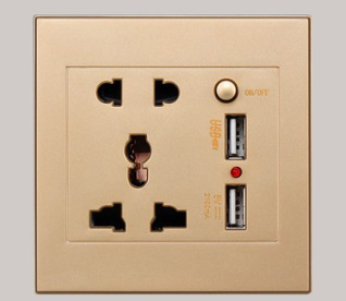 USB small switch socket gold